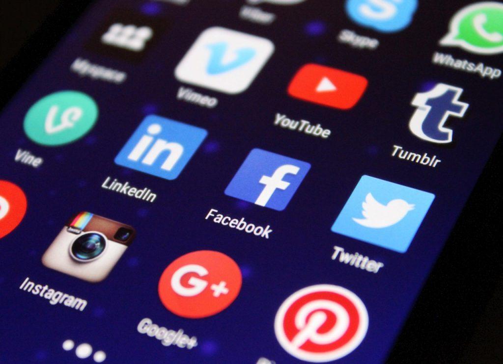 social media, apps, LinkedIn
