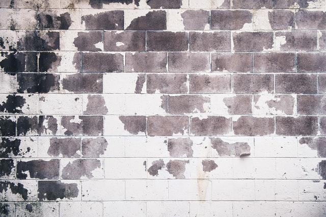 White and grey concrete